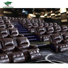 Home Theater Cinema Living Room Furniture Genuine Leather Recliner Sofa