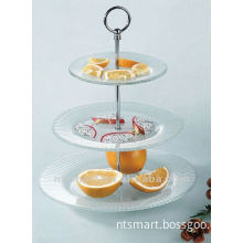 tempered glass plate with metal rack