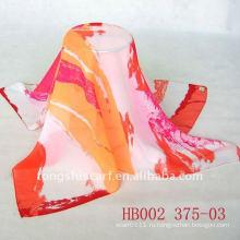 Мода печатные площади шелковый шифон шарф