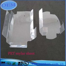 Transparent polyestermylarband av glasfiberark