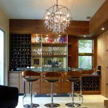 Modern Nordic Luxury Iron Frame Large Round K9 Crystal Chandelier Pendant  Lights For Hotel  Living Room