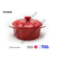Pot de couleur décoratif à deux tons
