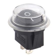 Interruptor de balancín redondo disponible con cubierta impermeable