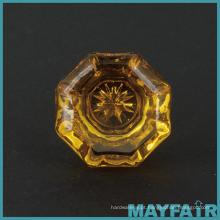 Fabricado em Taiwan 25mm botões de vidro de móveis gravados