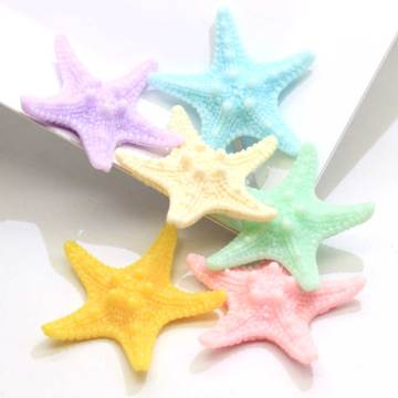 Kleurrijke hars Seastar miniatuur Cabochon Fairy tuin Home huizen decoratie Mini Craft Micro landschapsarchitectuur Decor DIY accessoires