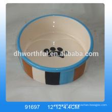 Alimentador de cerámica del perro de la venta caliente respetuosa del medio ambiente