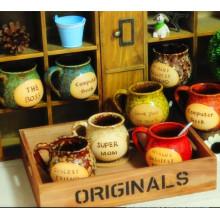 Taza de café de la porcelana del estilo europeo del diseño creativo