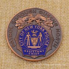Изготовленный на заказ металл Сити полиция Нью-Йорка вызов монета для продажи