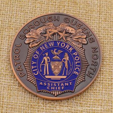 Moneda personalizada de Metal City New York Police Challenge para la venta