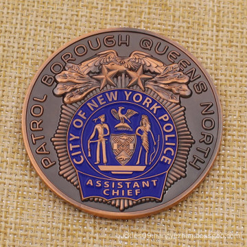 Custom Metal City New York Police Challenge Coin for Sale