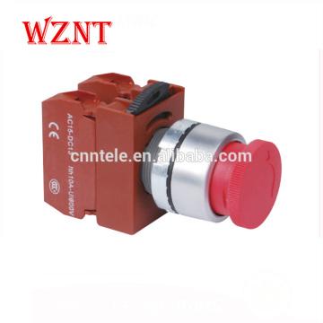 Interrupteur à membrane à bouton-poussoir LED bicolore en métal de type tête convexe de 22 mm