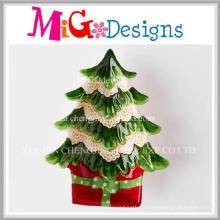 Cool Noël cadeau dernière plaque de collation de l'arbre de Noël en céramique