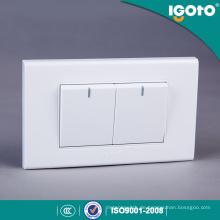 Igoto A1021 Fabrik produziert American Standard 118 * 75mm 2 Gang 1 Way Switch 2 Gang 2 Way Switch
