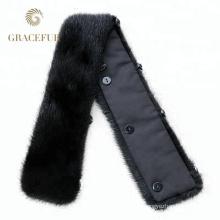Nuevo modelo real extraíble real rex collar de piel de conejo buen precio barato al por mayor