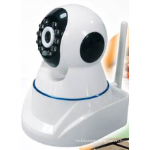 Wireless Mini IR CCD Pan/Tilt Round IP Camera