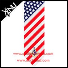 Les hommes ont fait sur mesure tous cravate maçonnique imprimée à la main de marque privée de soie
