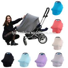 Amazon hot-selling cor lisa cobertura de enfermagem Multi-Uso Stretchy 4 em 1 tampa de assento do carro do bebê