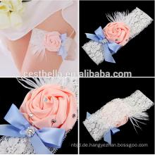 2016 Chic plus Größe Braut Hochzeit Strumpfband Fabrik Großhandelspreis westlichen Hochzeit Bein Strumpfband
