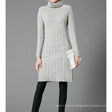 17 PKCS355 2017 malha de lã cashmere malha camisola da senhora
