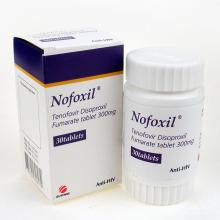 Nofoxil Tenofovir Disoproxil Fumarate Tablet 300mg 30tablets for Anti HIV