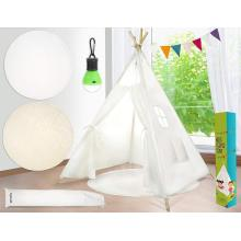 5ft Raw White Cotton Canvas Kinder Tipi Zelt
