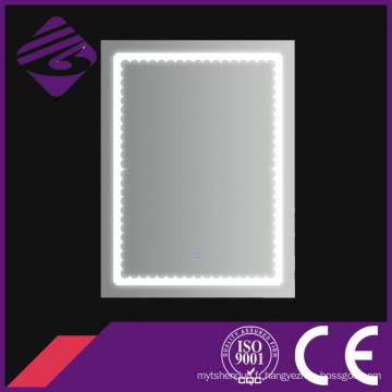 Jnh183 Rectangle décoratif illuminant le miroir argenté de salle de bains de LED pour l'hôtel