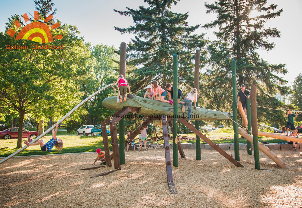 Natural Wooden Structure For Kids