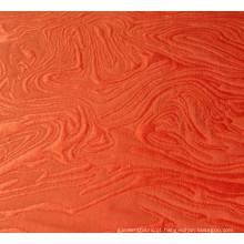 Tecido de algodão poli vermelho escuro do jacquard para o vestido de moda