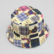 Wholesale Teddy Bear Printing Funny Bucket Hats for Kids