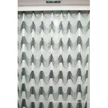 Casa decoración agua onda estilo cadena cortina cortina de cocina moderna