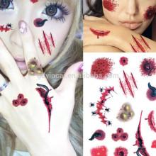 Las mujeres del sexo no taxic simulación sangrado diseño adhesivo tatuaje para la fiesta de Holloween