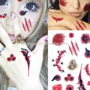 Секс женщин Non-такситовая моделирования кровотечения дизайн татуировки наклейки для Хэллоуина партии