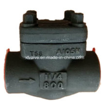 API602 Válvula de retención de elevación de rosca de acero forjado A105 NPT End