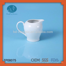 Hochwertiger weißer keramischer Milchtopf, kundengebundenes keramisches Glas, Wasserflasche