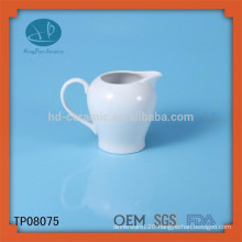 high quality white ceramic milk pot,customized ceramic jar,water bottle