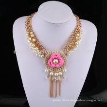 Collar caliente SN-048 de China de la venta al por mayor del collar de la perla del estilo de la venta