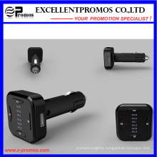 2016 New Design Handsfree Bluetooth FM Transmitter with Dual USB Car Charger
