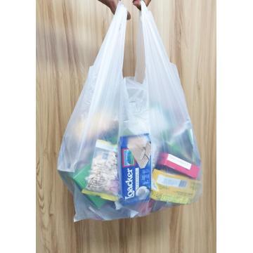 Sacos de compras plásticos biodegradáveis certificados BPI 100%
