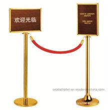 Hotel e Banco Lobby aço inoxidável Multidão Railing Stand