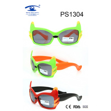 Popular Design Colorful Kid Plastic Sunglasses (PS1304)