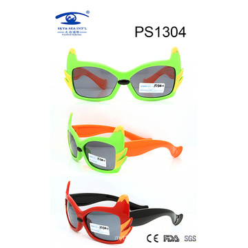 Popular Design Colorful Kid Plastic Sunglasses (PS1304)