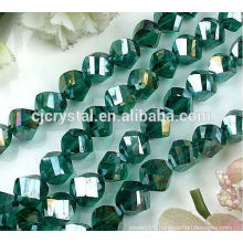 2016 the Newest oval cubic twisted beads