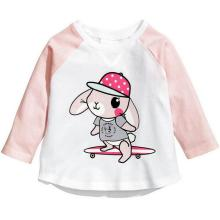 Baby Girl Cartoon Sweater Tees with Long Sleeve in Children Clothes Garment Sq-17105