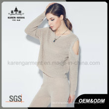 Karen Women Stylish Long Sleeve off Shoulder Knitted Clothes