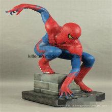 Brinquedos de miúdo internos do campo de jogos do PVC da aranha plástica da figura de ação 3D