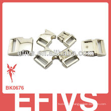 "3/8"" silver metal release buckles"