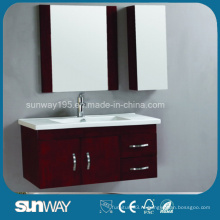 Настенный зеркальный деревянный тент ванной комнаты