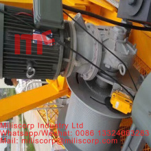 Tower crane inverter control hoist reducer