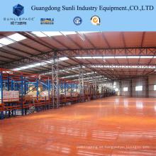 Estantería de almacenamiento industrial Sistema de plataforma de metal Estante apoyado