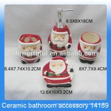 Accessoires de salle de bains en céramique classiques en forme de père noël pour enfants